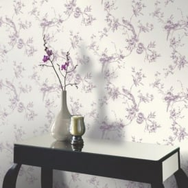 Arthouse Opera Chinoise Floral Pattern Songbird Flower Motif Wallpaper 425002