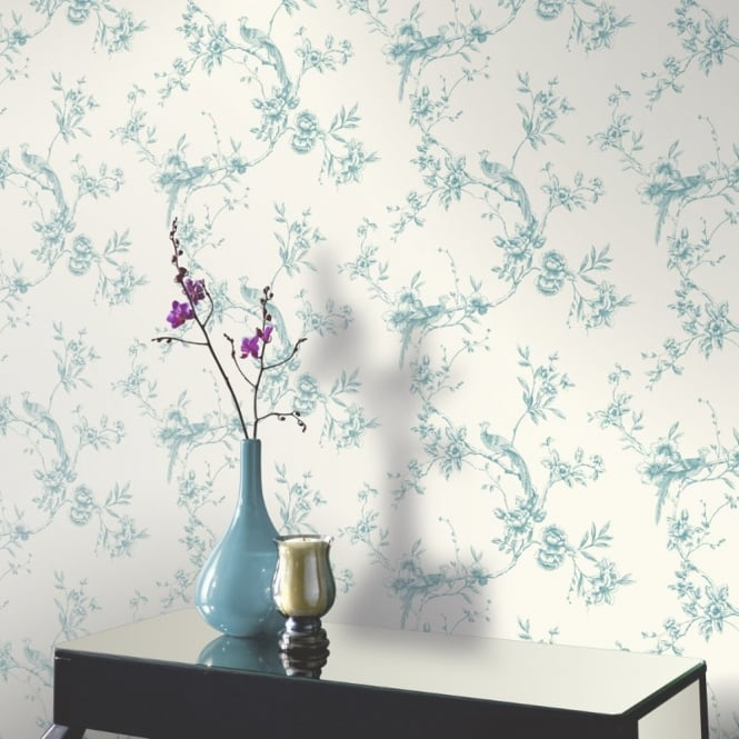 Arthouse Opera Chinoise Floral Pattern Songbird Flower Motif Wallpaper 425003