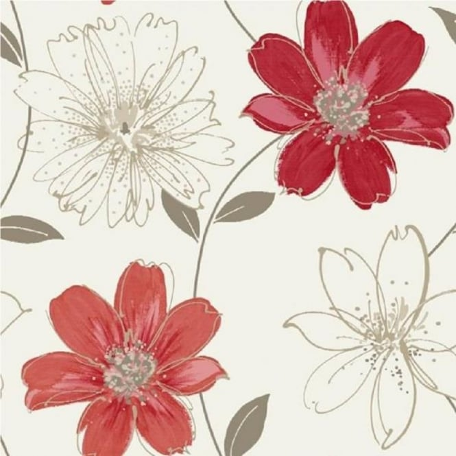 Arthouse Opera Samba Motif Luxury Floral Metallic Flower 10m Wallpaper 406002