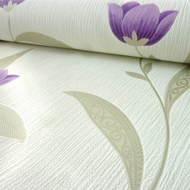 Arthouse Othello Floral Motif Flower Pattern Wallpaper Embossed Metallic 882001