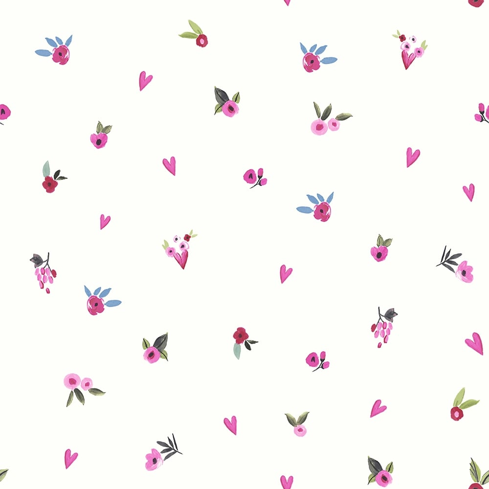 Arthouse Paris With Love Floral Pattern Wallpaper Flowers Roses Heart Glitter 696106