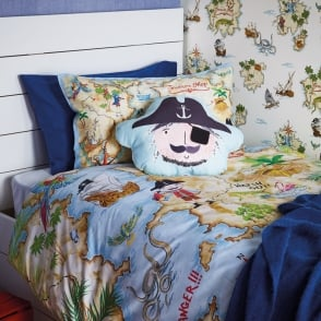 Arthouse Pirates Ahoy Single Duvet Set Quilt Cover Bedding Caribbean Ship Boat