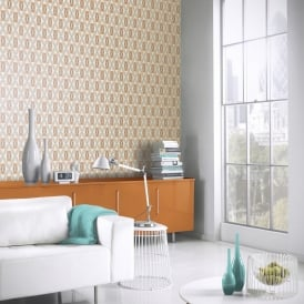 Arthouse Quartz Retro Geometric Pattern Wallpaper Abstract Floral Motif 640700