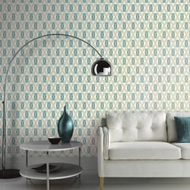Arthouse Quartz Retro Geometric Pattern Wallpaper Abstract Floral Motif 640702