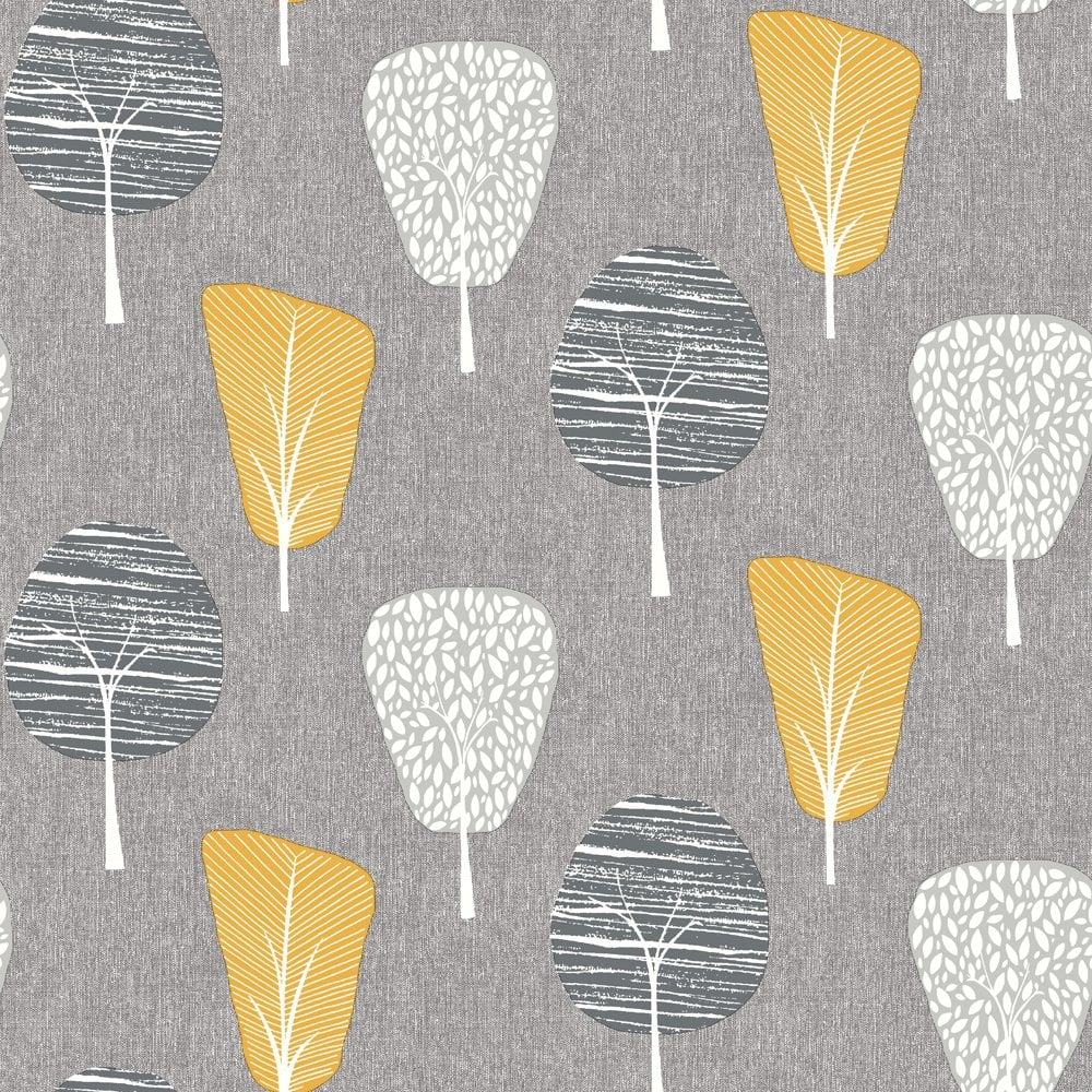 Blue Christmas Tree Wallpaper: Arthouse Retro Tree Smooth Leaf Pattern Strip Pastel