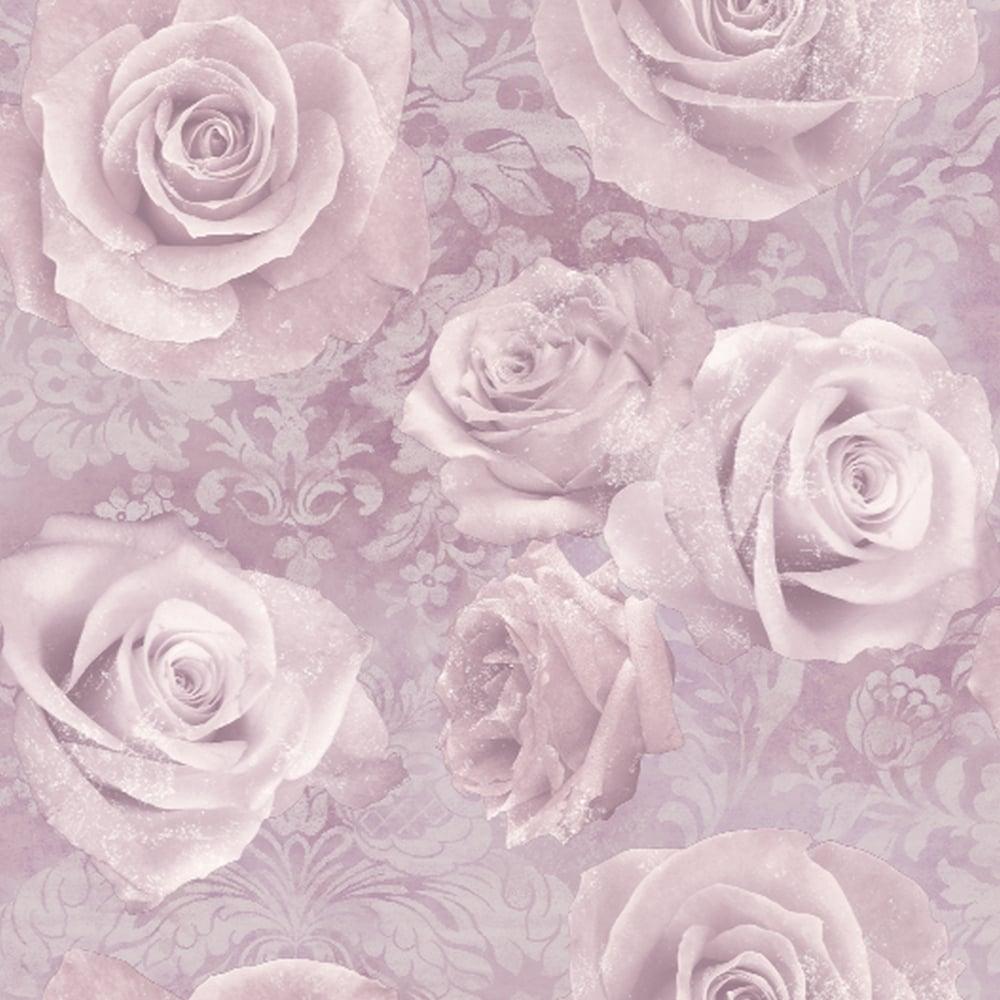 Arthouse Reverie Floral Damask Pattern Wallpaper Rose