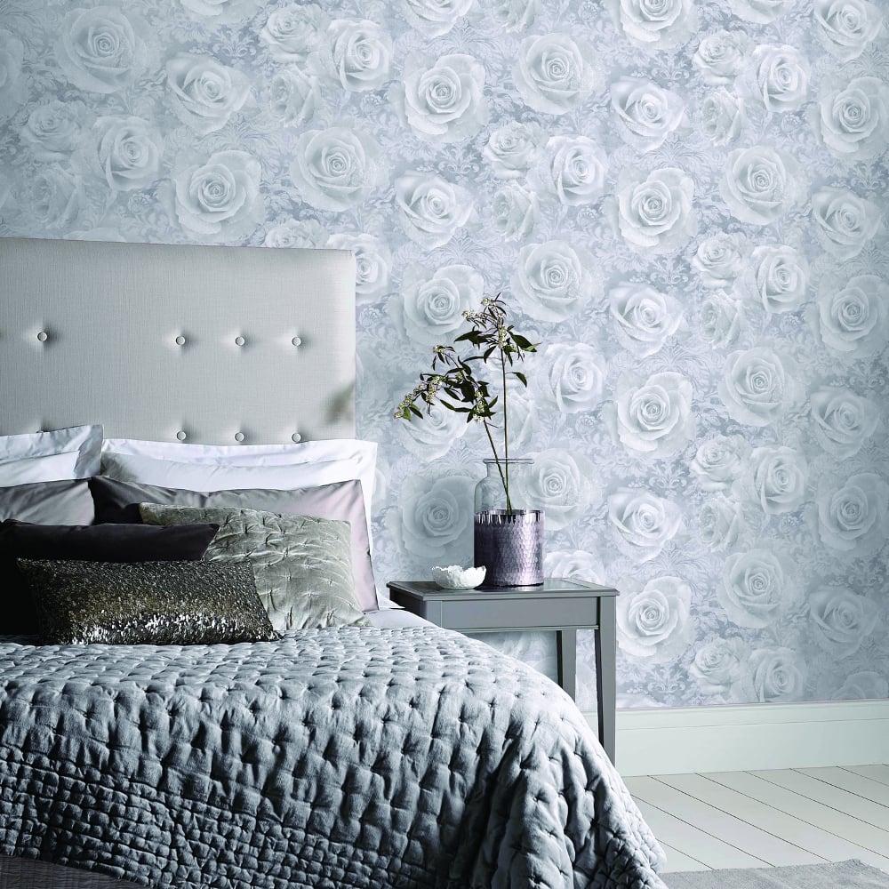 Arthouse Reverie Floral Damask Pattern Wallpaper Rose Flower Motif 3D Effect 623303