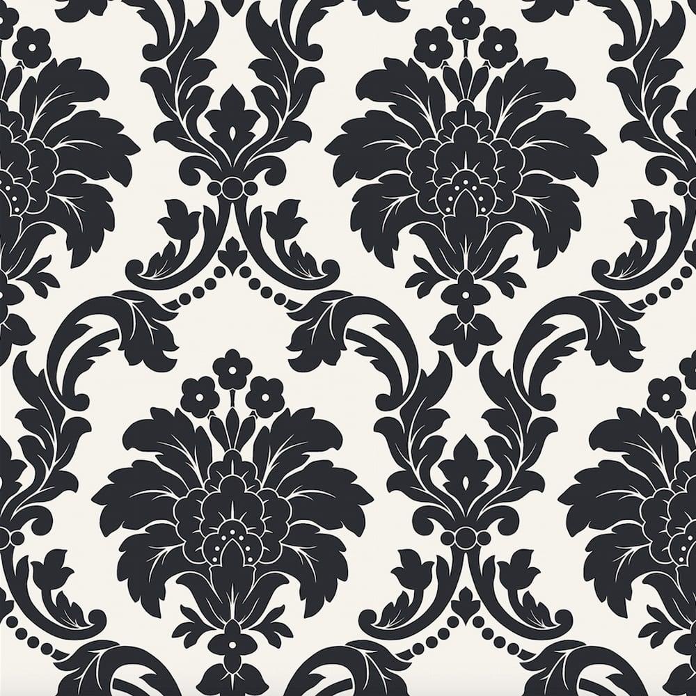 arthouse romeo damask pattern wallpaper metallic floral. Black Bedroom Furniture Sets. Home Design Ideas
