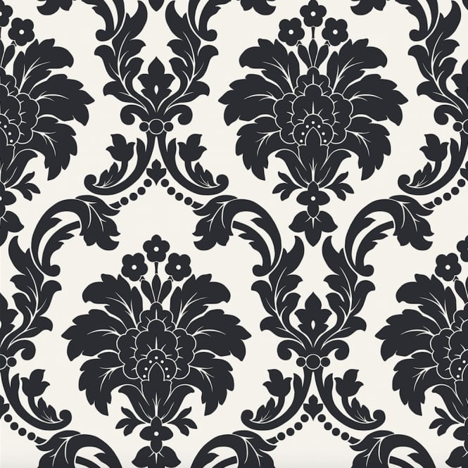 Arthouse Romeo Damask Pattern Wallpaper Modern Metallic Floral Motif 693500