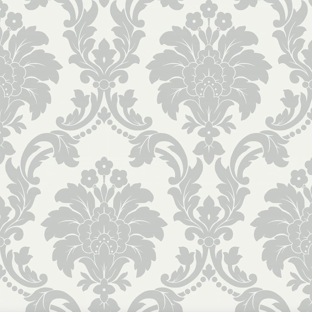 arthouse romeo damask pattern wallpaper modern metallic floral motif 693503 grey i want. Black Bedroom Furniture Sets. Home Design Ideas