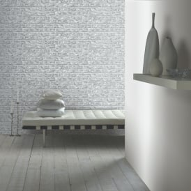 Arthouse Rustic Brick Pattern Wallpaper Faux Effect Realistic Embossed Stone 889606
