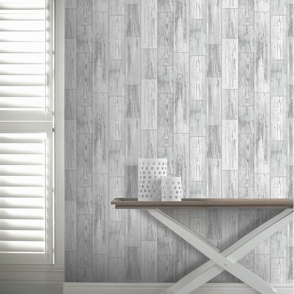 White wood texture related keywords amp suggestions white wood texture - Arthouse Salcombe Wood Panel Pattern Wallpaper Distressed Faux Effect 693201