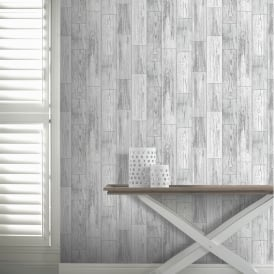 Arthouse Salcombe Wood Panel Pattern Wallpaper Distressed Faux Effect 693201