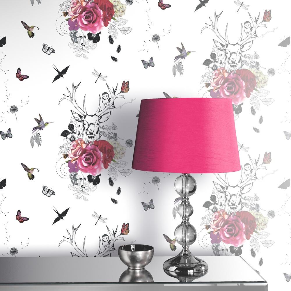 Arthouse Spellbound Flower Pattern Bird Butterfly Stag