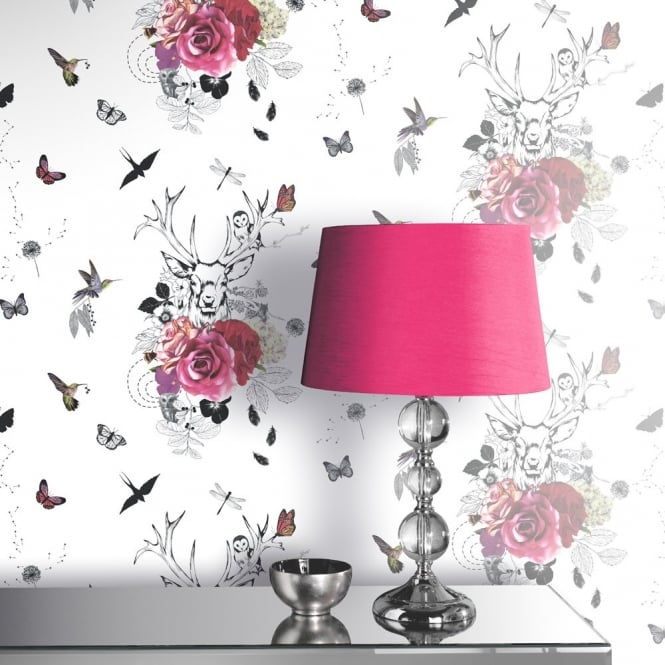 Arthouse Spellbound Flower Pattern Bird Butterfly Stag Wallpaper 665300