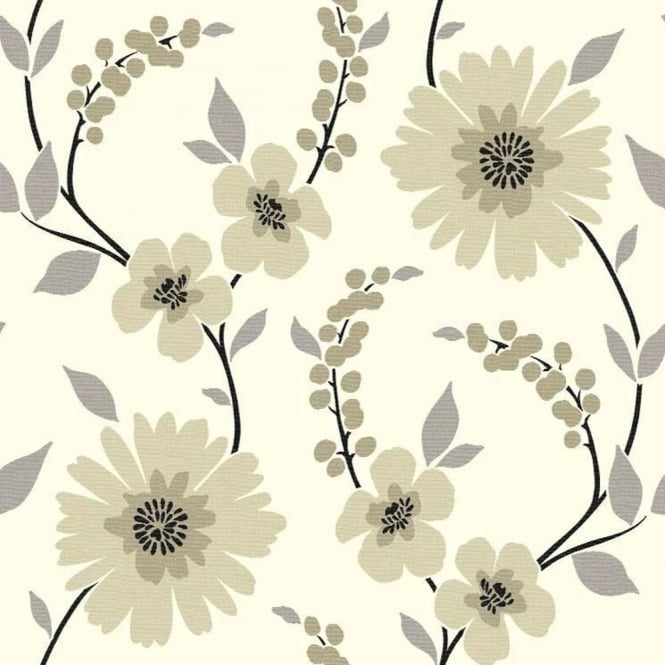 Arthouse Stansie Floral Trail Luxury Contemporary Flower Wallpaper 414204