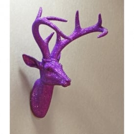 Arthouse Star Studded Stag Head Diamante Deer Mountable Wall Art Champagne 008219