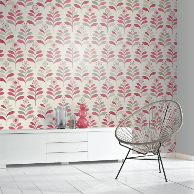 Arthouse Tamara Leaf Pattern Wallpaper Metallic Leaves Floral Motif 693301