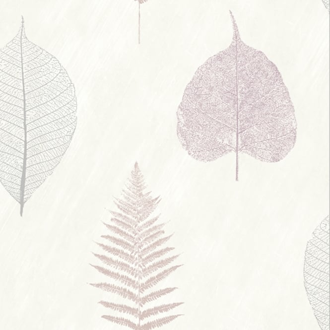 Arthouse Thea Leaf Pattern Wallpaper Modern Metallic Floral Motif 693403