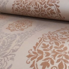 Arthouse Timour Damask Pattern Floral Motif Metallic Glitter Wallpaper 673700