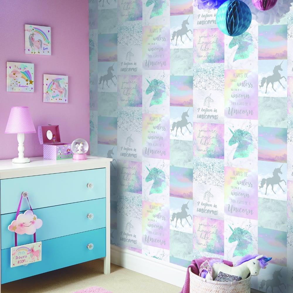 Popular Wallpaper Marble Unicorn - arthouse-unicorn-collage-pattern-wallpaper-childrens-glitter-horse-698300-p4785-12826_image  Perfect Image Reference_314962.jpg