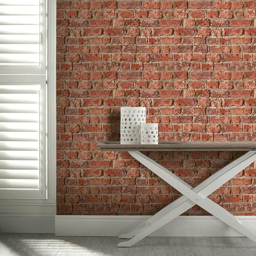 Arthouse urban brick pattern wallpaper faux effect - Art house wallpaper uk ...