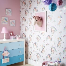 Arthouse Ursula the Unicorn Decorative Childrens Wall Art 3D Head Décor 008355