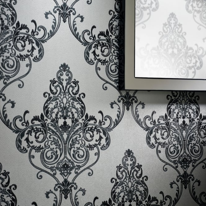 Arthouse Valdina Vintage Damask Pattern Wallpaper Textured ...