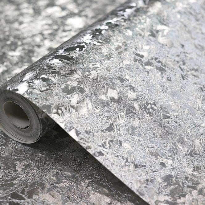 Arthouse Velvet Crush Foil Pattern Wallpaper Metallic Leaf