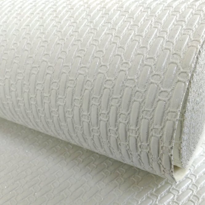 Arthouse Vintage Ariosa Italian Chain Stripe Pattern Glitter Vinyl Wallpaper 290703