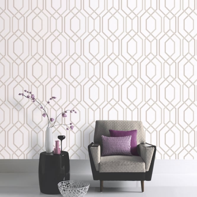 Arthouse Vintage Artemis Stripe Pattern Wallpaper Textured Metallic Glitter Motif 891901