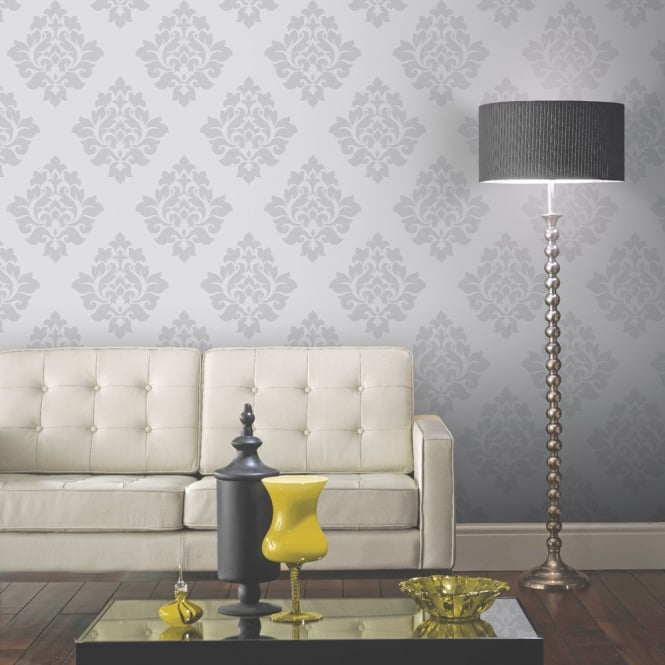 Arthouse Vintage Capulet Damask Pattern Wallpaper Metallic Textured Glitter 891801