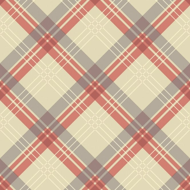 Arthouse Vintage Fairburn Tartan Check Pattern Textured Vinyl Wallpaper 252701