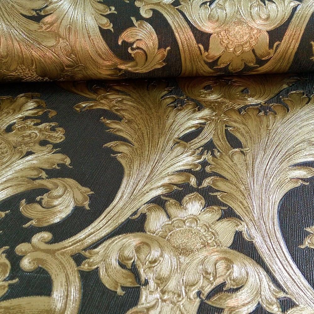 arthouse vintage figaro damask pattern textured vinyl. Black Bedroom Furniture Sets. Home Design Ideas
