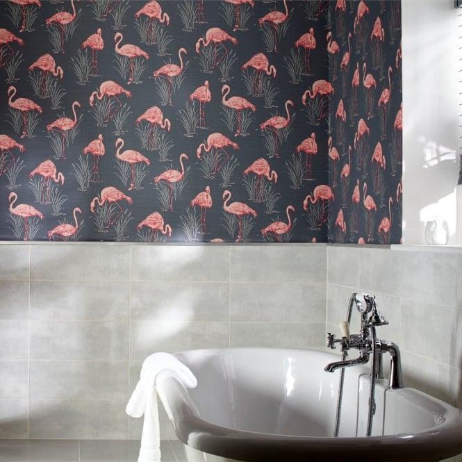 Arthouse Vintage Lagoon Traditional Oriental Flamingo
