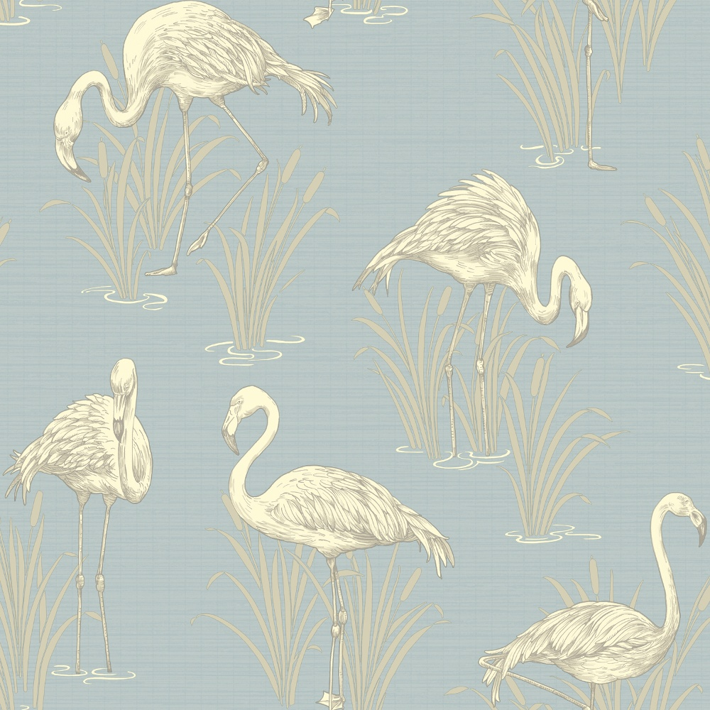 arthouse vintage lagoon traditional oriental flamingo textured wallpaper 252605 soft blue i. Black Bedroom Furniture Sets. Home Design Ideas