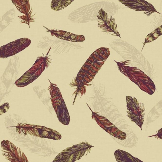 Arthouse Vintage Plume Bird Feather Pattern Motif Textured Vinyl Wallpaper 252803