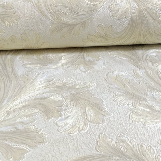 Arthouse Vintage Safina Feather Pattern Leaf Glitter Metallic Vinyl Wallpaper 291301