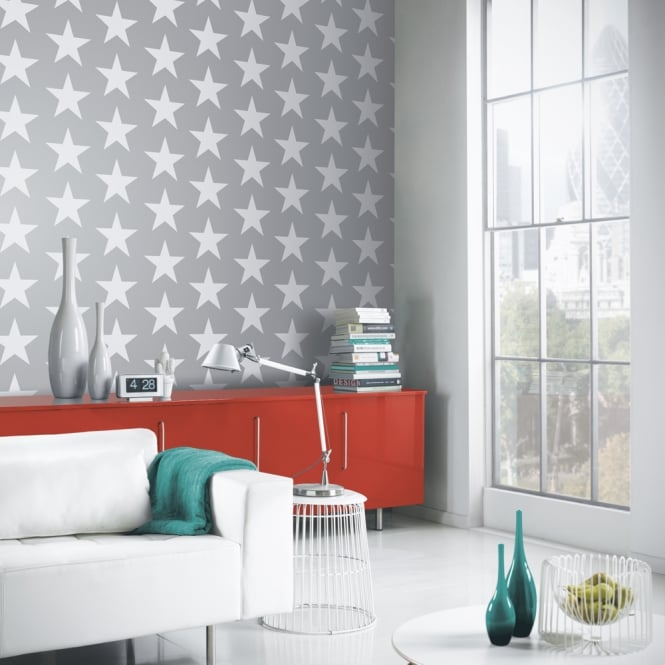 Arthouse Vintage Star Pattern Wallpaper Embossed Metallic Glitter Motif 891301