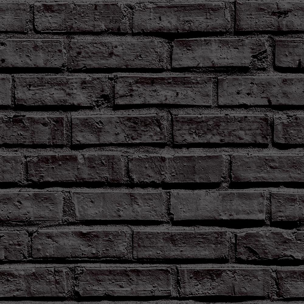 Black Wallpaper For Walls arthouse vip brick wall pattern stone effect motif wallpaper 623007