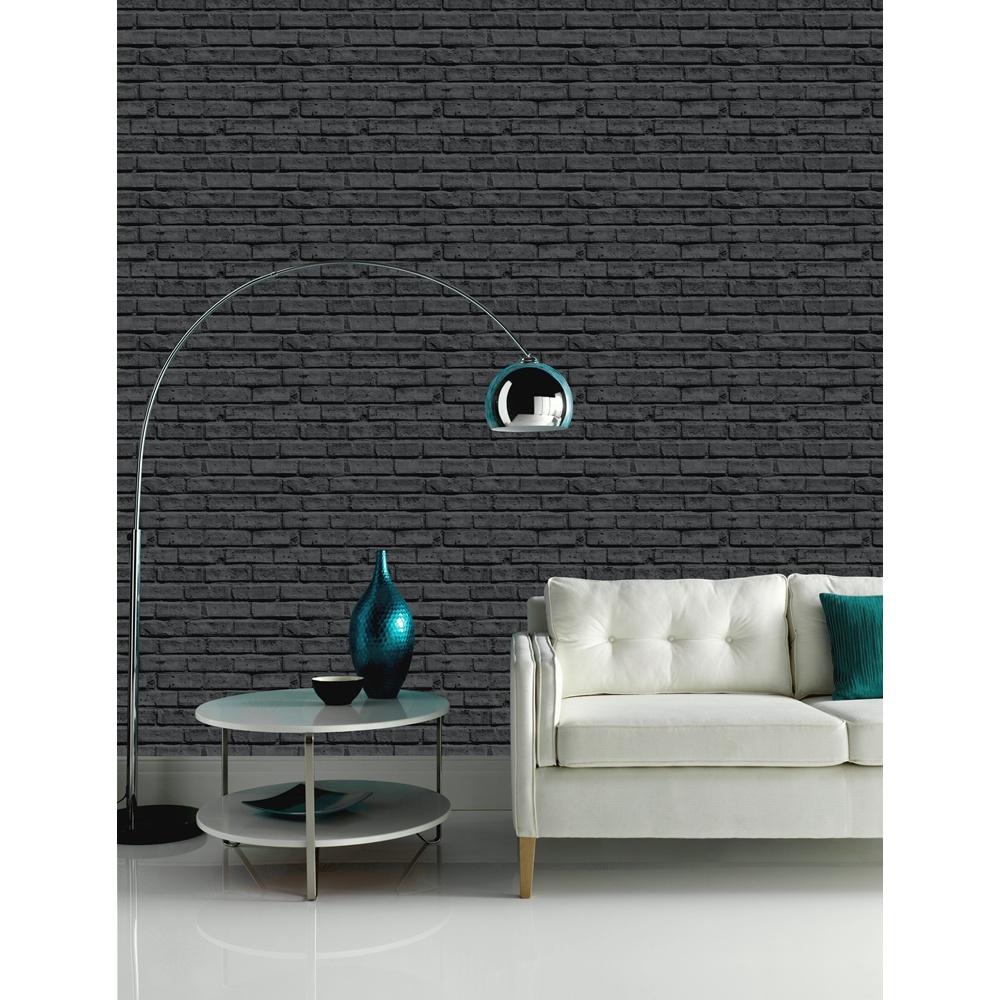 Black Brick Wallpaper Bedroom Ideas