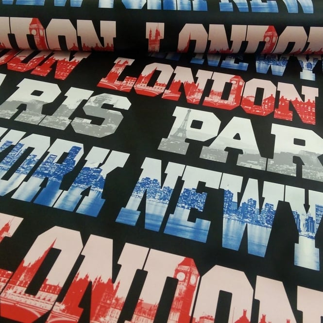 Arthouse Vip Cityscapes London New York Paris Typography Wallpaper 622002