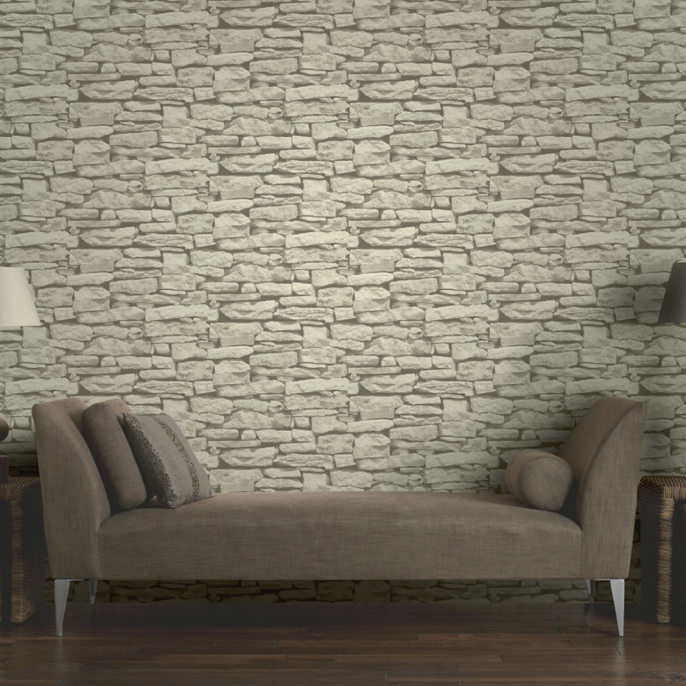 Art Stone Walls : Arthouse vip moroccan stone wall brick effect photographic