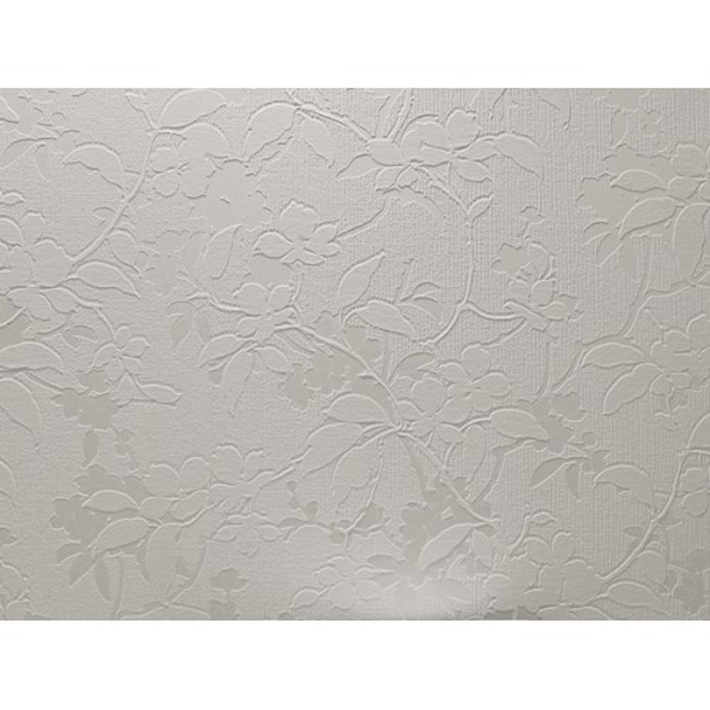 Textured paintable wallpaper - Arthouse White Textures Aria Floral Leaf Textured Paintable Wallpaper 821003