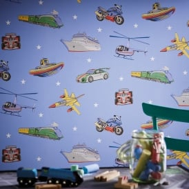 Arthouse Zoom Vehicle Pattern Childrens Wallpaper F1 Car Motorbike Airplane 696203
