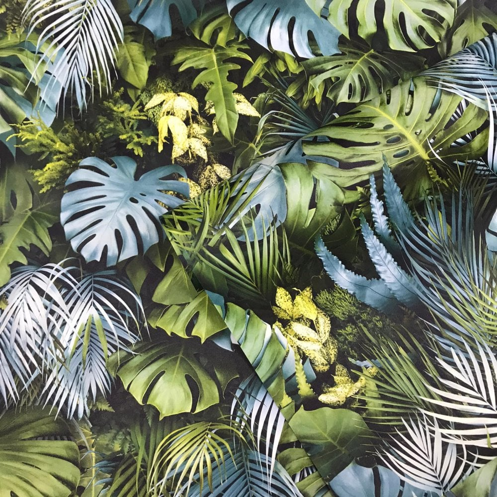 Tropical Foliage Background: AS Creation 3D Effect Tropical Tree Palm Leaf Wallpaper