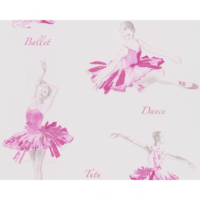 A.S. Creation AS Creation Ballet Dancer Pattern Glitter Motif Embossed Childrens Wallpaper 305281