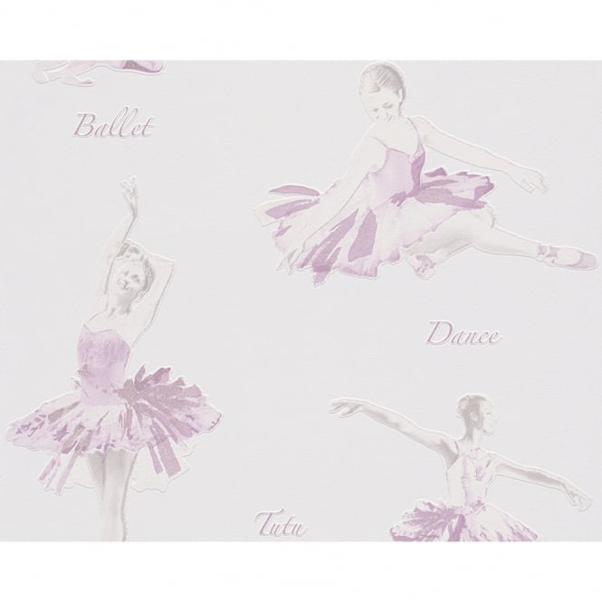 A.S. Creation AS Creation Ballet Dancer Pattern Glitter Motif Embossed Childrens Wallpaper 305282