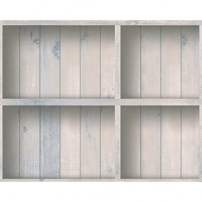 A.S. Creation AS Creation Book Shelf Pattern Wood Panel Effect Textured Vinyl Wallpaper 959491
