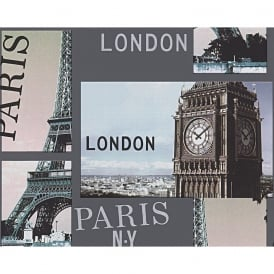 AS Creation City Photo Pattern London Paris New York Embossed Wallpaper 958501